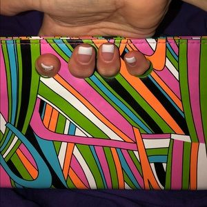 Psychedelic Finger Hole Clutch